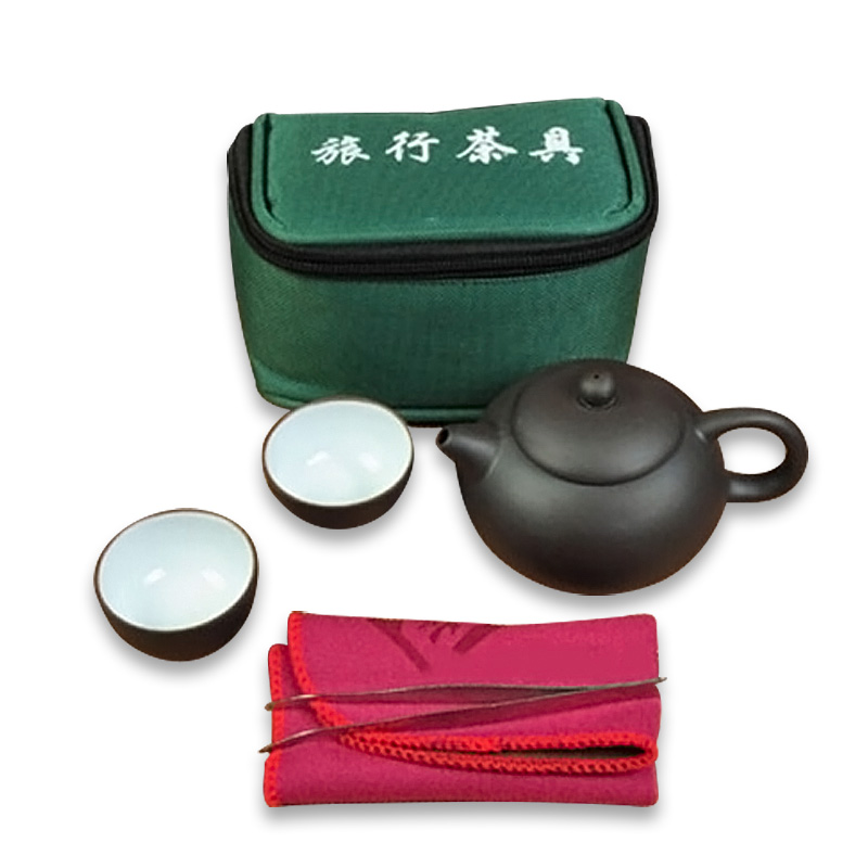 7 pcs Travel Ceramic Teapot Set With Green Gift Bag+1 Teapot+2 Cups+10g oolong tea+1 Towel +1 Tea Clip Tool  Kung Fu Teapot7 pcs Travel Ceramic Teapot Set With Green Gift Bag+1 Teapot+2 Cups+10g oolong tea+1 Towel +1 Tea Clip Tool  Kung Fu Teapot