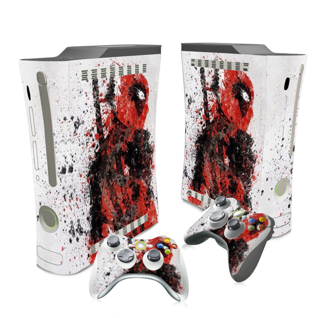 free drop shipping design skin sticker decals for xbox 360 console