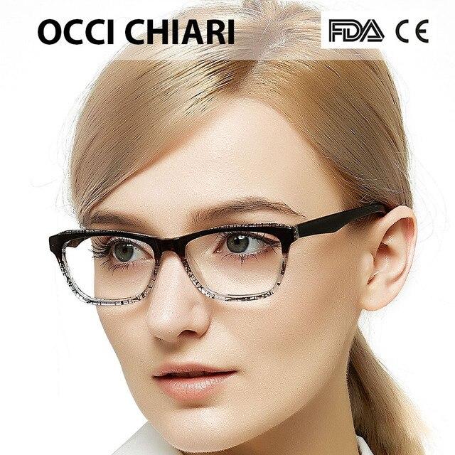 50ef398db6dd OCCI CHIARI Women Glasses Frame Optical Cat Eye Prescription Lens Medical  Optical Glasses Frame Oculos Lunettes