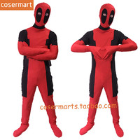 Childrens Adult High Quality Halloween Party Deadpool Cosplay Costumes Kids Jumpsuits SuperHero Costume Full Body Suit