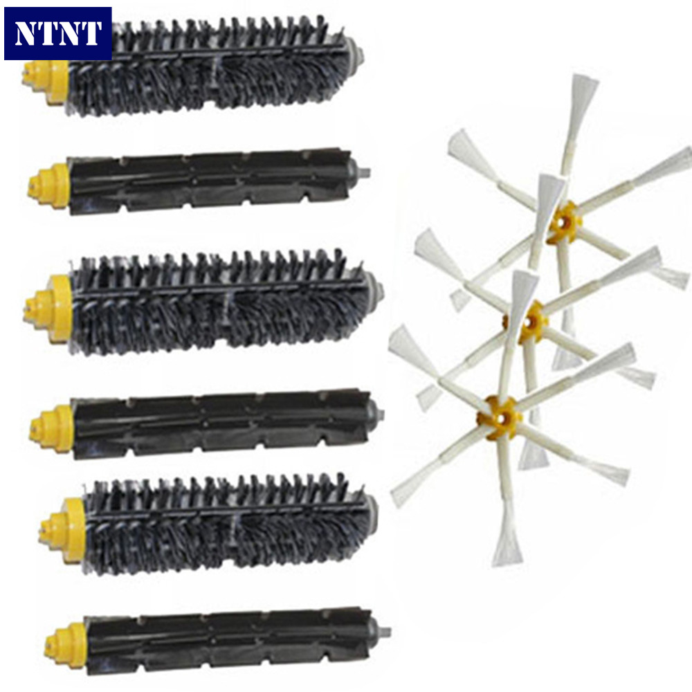 NTNT Free Post 3x Brush 6 arm Kit for iRobot Roomba 600 700 Series 620 630 650 660 760 770 780 цены онлайн
