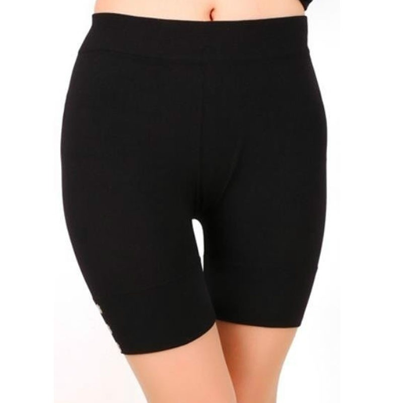 Women's Casual Solid Summer Slim Fitness High Stretch Short Sporting   Leggings