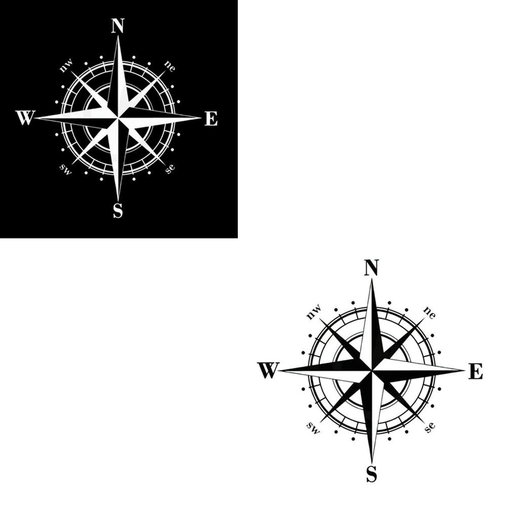 5.90/'/' Art Design Vinyl NSWE Compass Car Stickers DIY Vinyl Decal Waterproof