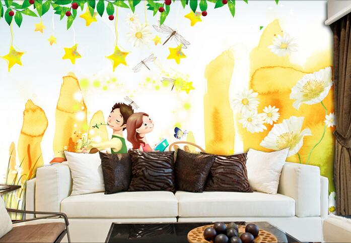 3d room wallpaper custom mural non-woven wall sticker Sweet children room background wall painting photo 3d wall mural wallpaper free shipping hepburn classic black and white photographs women s clothing store cafe background mural non woven wallpaper