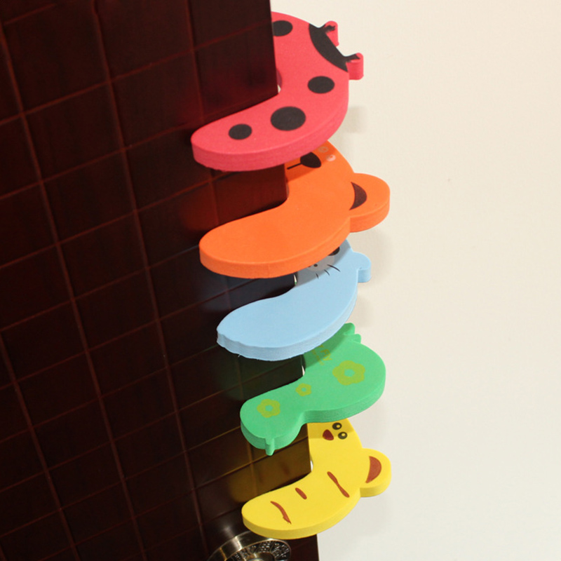 5Pcs Protection Baby Safety Cute Animal Security Door Stopper Baby Card Lock Newborn Care Child Finger Protector