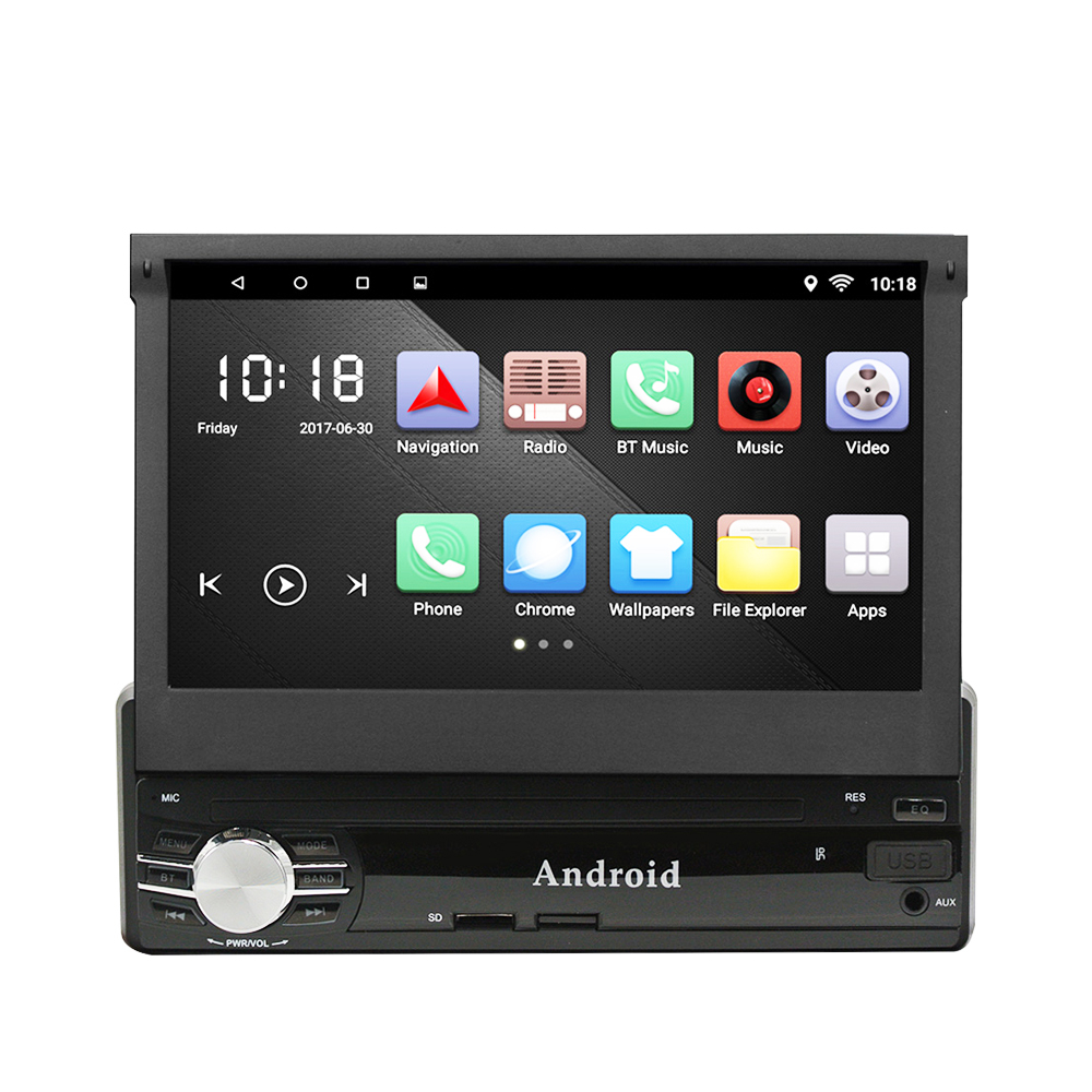 Universal 1 Din Car Radio GPS Android Quad Core Car Styling 7'' Touch Screen 1024*600 Head Unit Bluetooth AM/FM Radio Car Stereo joying 7 double 2 din android 6 0 universal car radio quad core 1024 600 hd car gps navigation best head unit car pc