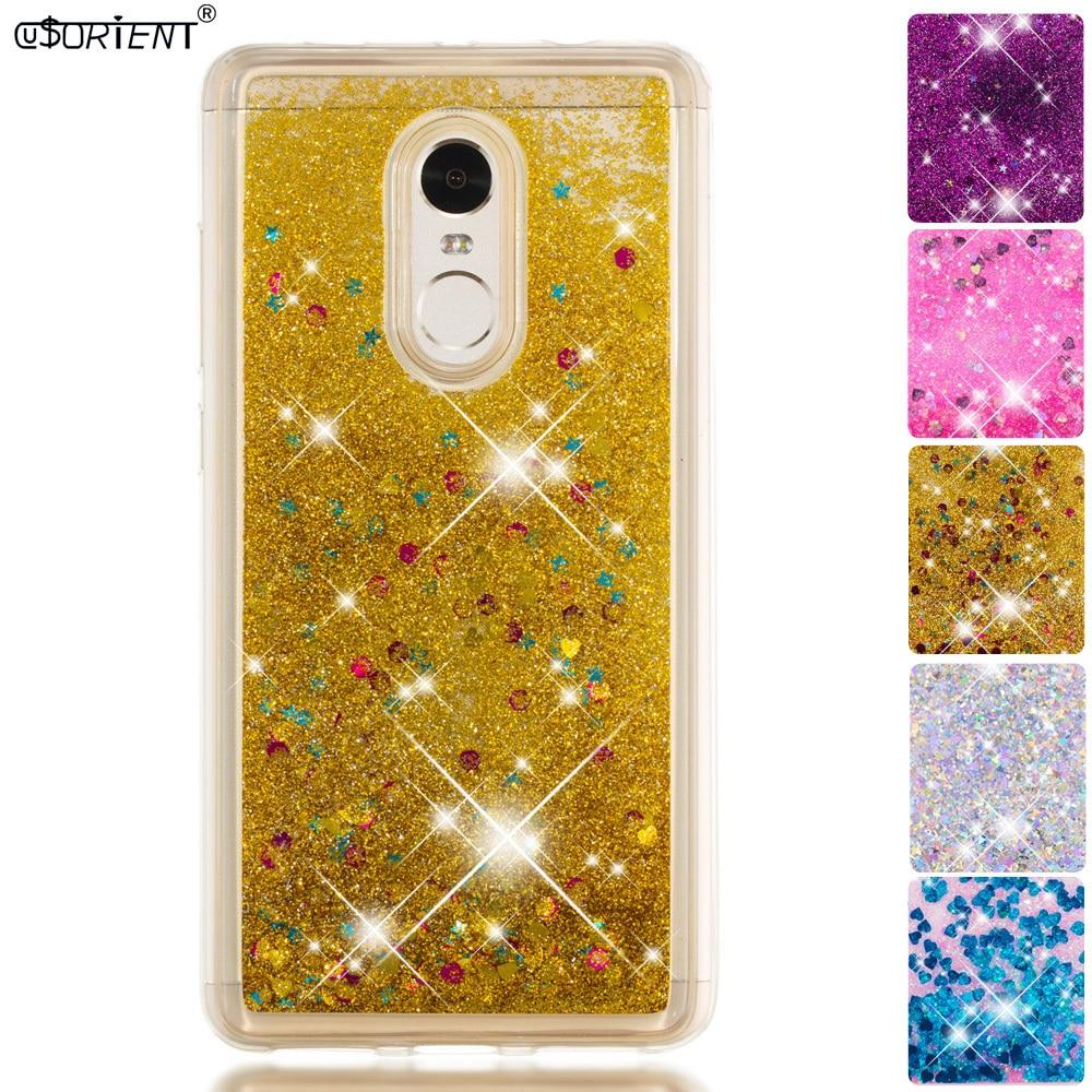 Bling Glitter Case For Xiaomi Redmi Note 4 4X Dynamic Liquid Quicksand Cases Xaomi Xiomi Red Mi Redmi Note 4X 4 Pro Phone Cover