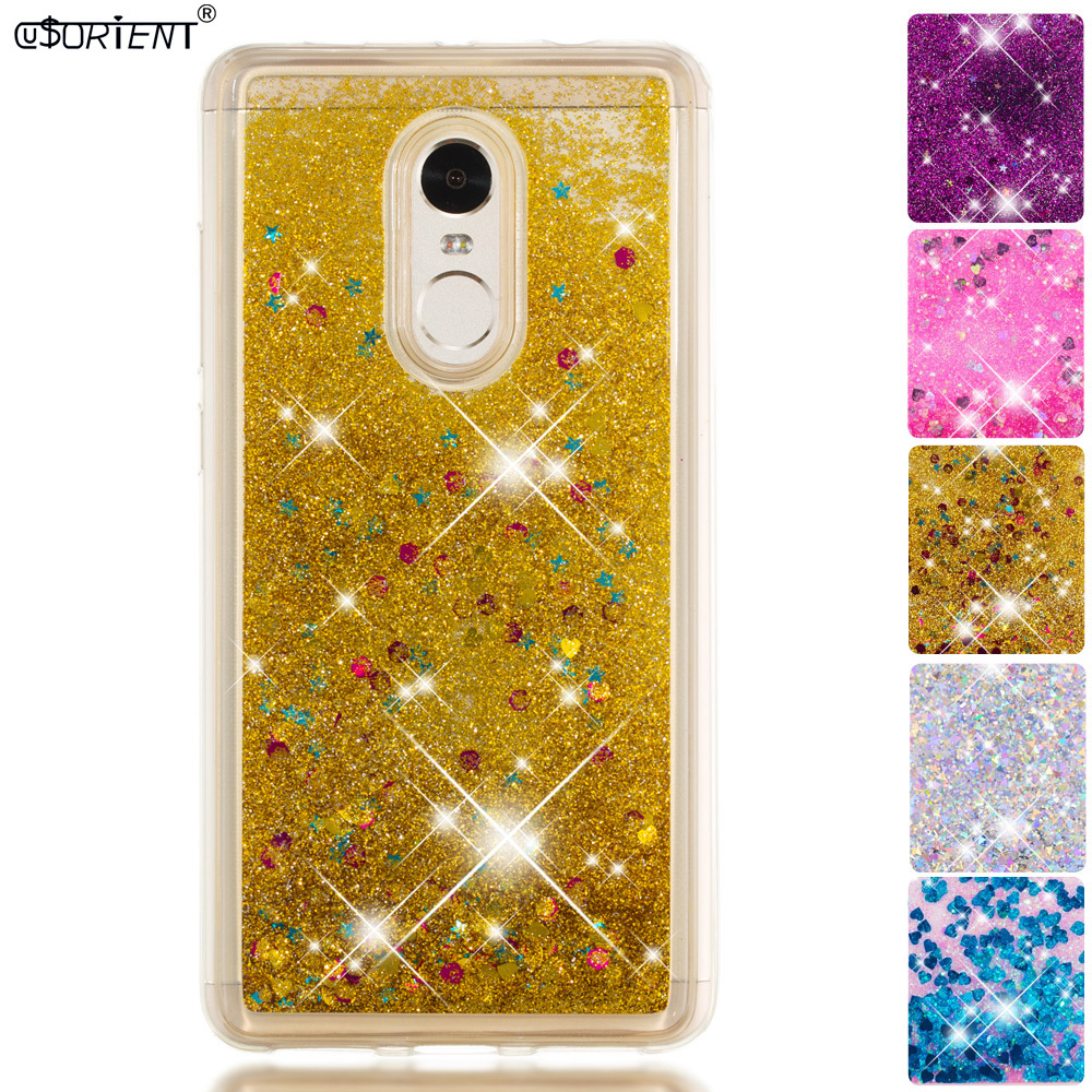 Half-wrapped Case Conscientious Bling Glitter Case For Xiaomi Redmi Note 4 4x Dynamic Liquid Quicksand Cases Xaomi Xiomi Red Mi Redmi Note 4x 4 Pro Phone Cover Wide Varieties