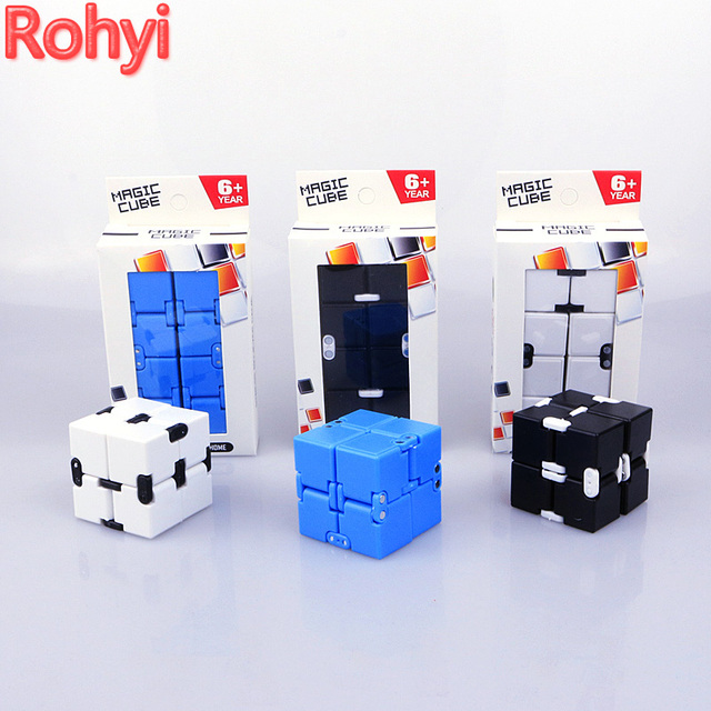 infinity cube. rohyi super fun infinity cube spinner fidget high quality anti stress mano magic kid finger y