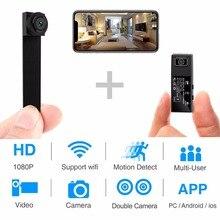 HD 1080 P DIY портативный Wi-Fi мини-камера P2P беспроводная микро веб-камера видеокамера Видео рекордер поддержка дистанционного просмотра и скрытая TF карта