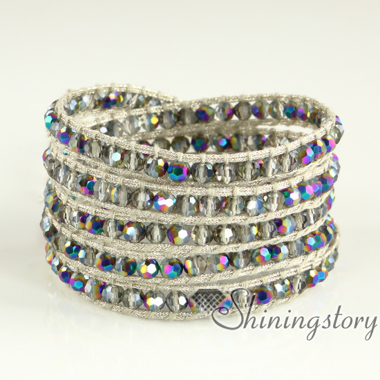 Us 25 96 Wrap Around Bracelets Mocuba Cords For Women Long Beaded Necklace Stack E In Charm