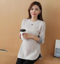 Maternity clothes 2016 Autumn and winter new pregnant women sweater fashion round neck loose warm maternity sweater HYF12083663