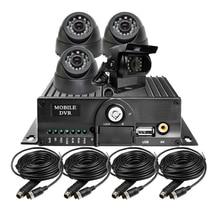 Бесплатная Доставка Новый 4-КАНАЛЬНЫЙ SD HD 720 P AHD Автомобиль MDVR Видеонаблюдения система Автомобиля Рекордер DVR Комплект 1.0MP AHD Камера Для Автобус Грузовик Ван