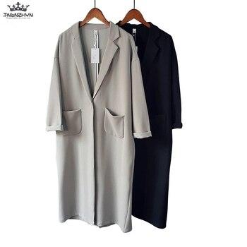 Tnlnzhyn 2019 New Spring Summer Women thin Trench Coat Loose Casual Long Sleeve Windbreaker Coat Medium long Outerwear Y1051 фото