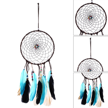DIY Led Gift Colorful Feathers Festival With String Light Decoration Home Party Hanging Dream Catcher Handmade Bedroom Craft