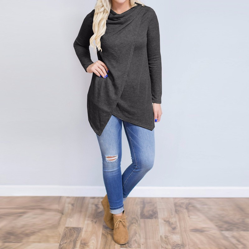 HTB1ZehqOpXXXXXIapXXq6xXFXXX7 - Women Cardigan Long Sleeve O Neck Casual Loose Blouses