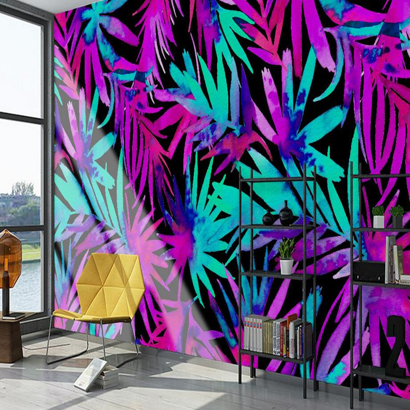 Custom Photo Wallpaper Roll 3D Wall Murals Nature Color Tropical Plant Leaf Wallpaper Landscape Home Decor Wallpaper for Wall 3D shinehome black white cartoon car frames photo wallpaper 3d for kids room roll livingroom background murals rolls wall paper