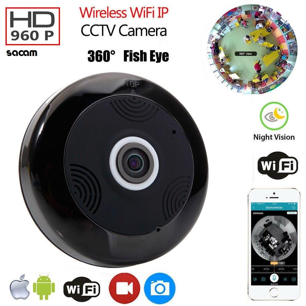 Fish-eye Home Security Camera 960P 1.3MP 360 Degree Panoramic Fisheye IP Camera P2P Wireless Security Camera Mini WiFi Nanny Cam нивелир ada cube 2 360 home edition a00448
