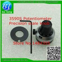 WXD3-13 3590 s 4mm 6mm 6.35mm potenciômetro botão de discagem precisa com fechadura chapéu novo original