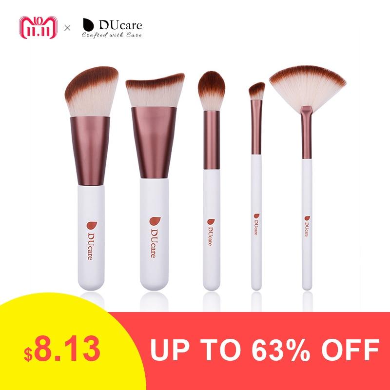 DUcare 5PCS Makeup Brush Set Contour Highlight Eyeshadow Fan Brush Fan Makeup Brushes Portable Cosmetic Tools Kit цены