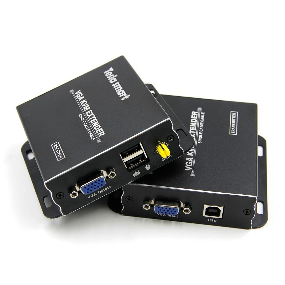 USB KVM VGA Hz Long Range Extender 300m 1080P 60 984ft Sobre Cat5e Cat6 Ethernet Cabo Extensor VGA (até 300 m, sender + Receptor)