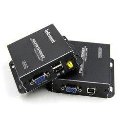 USB VGA KVM Extender 300m 1080P 60Hz A Lungo Raggio 984ft Sopra Cat5e Cat6 Ethernet Via Cavo VGA Extender (fino a 300 m, mittente + Ricevitore)