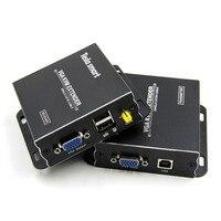 USB VGA KVM Extender 300m 1080P 60Hz Long Range 984ft Over Cat5e Cat6 Ethernet Cable VGA Extender ( up to 300m, Sender+Receiver