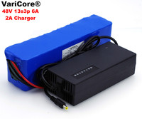 VariCore 48 В 6ah 13s3p высокое Мощность 18650 Батарея Электромобиль Электрический мотоциклов DIY Батарея 48 В BMS защита + 2A Зарядное устройство