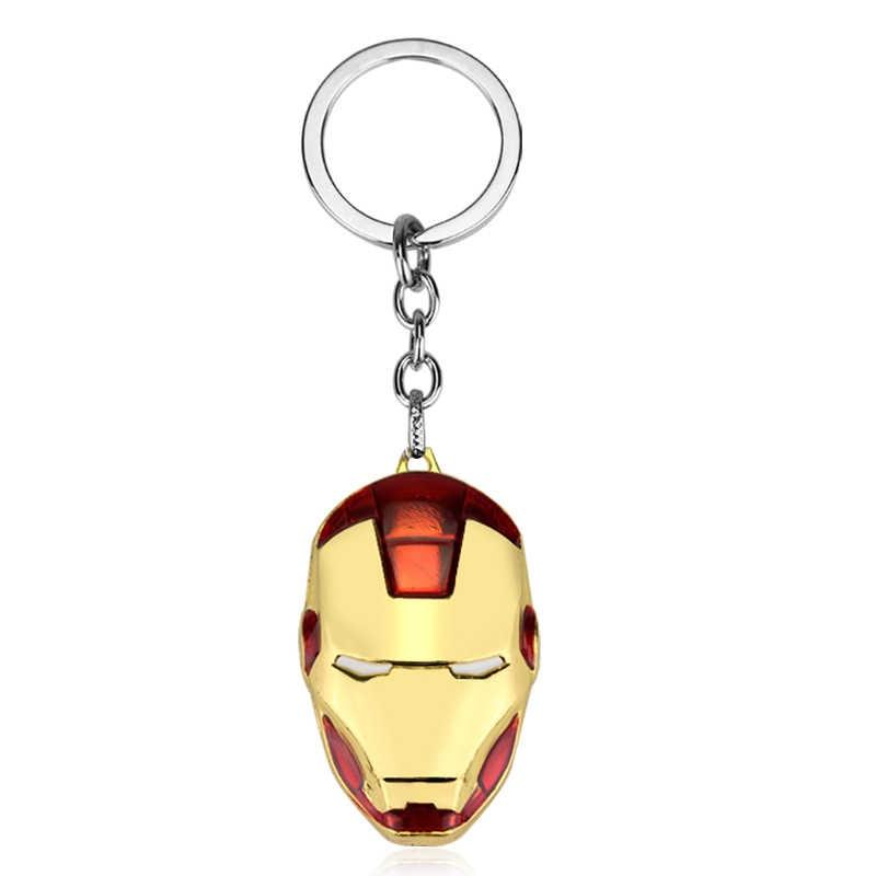 2019 Marvel Avengers 4 Thor Axe Hammer Gantungan Kunci Besi Pria Captain America Batman Mask Keychain Gantungan Kunci Perhiasan Aksesoris