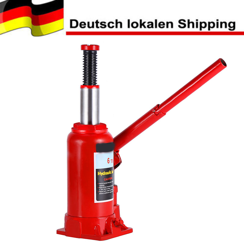 6T Heavy Duty Hydraulic Bottle Jack Lifting Car Van