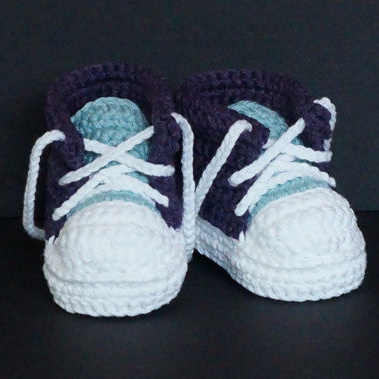 QYFLYXUEHandmade Baby Girls Boys Crochet Sneaker Booties Infant Knitted Sport Shoes Soft Sole Indoor Casual Shoes Cotton