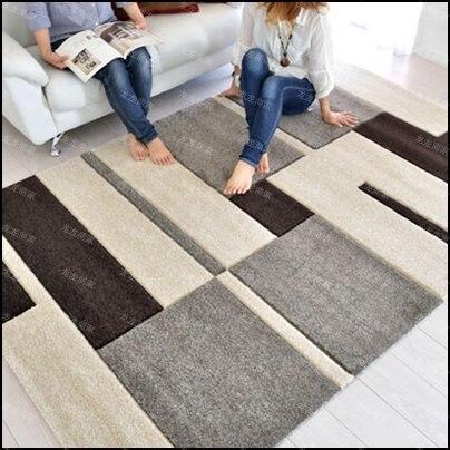 بسيطة شعرية الاكريليك السجاد alfombras الحديثة اليدوية السجاد غرفة المعيشة غرفة نوم الأزياء الإبداعية القهوة الجدول أريكة tapete-في سجاد من المنزل والحديقة على  مجموعة 1