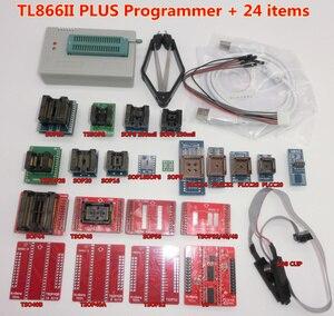 Image 1 - 100% ORIGINAL V8.3 TL866II PLUS programmeur + IC clip TSOP48 SOP28 haute vitesse AVR MCU Flash EPROM programmeur remplacer TL866A/CS