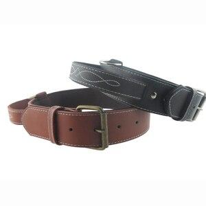 Image 5 - Big Dog Collar PU Leather Strong Dog Collar Leash with Handle PU Black Brown Pet Dogs Leash Collar CLPU01