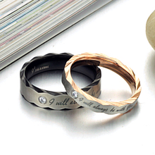 Fashion Hot Brand Jewelry Stainless Steel Ring For Lovers Romance Wedding Unqiue Design Couple Ring Valentine's Day Gift KJ301