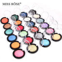 Miss rose Colorful shimmer single bake eyeshadow palette Glitter Shiny fashion eye shadow pallete professional Makeup