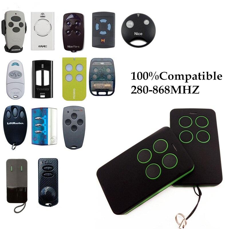Duplicar 280 MHz a 868 MHz Control remoto Universal Control remoto 4 canal comando Handzender garaje puerta Fob llave
