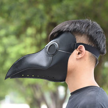 Steampunk Plague Doctor Mask White/Black Latex Bird Beak Masks Long Nose Halloween Cosplay Party Event Ball Costume Props(China)