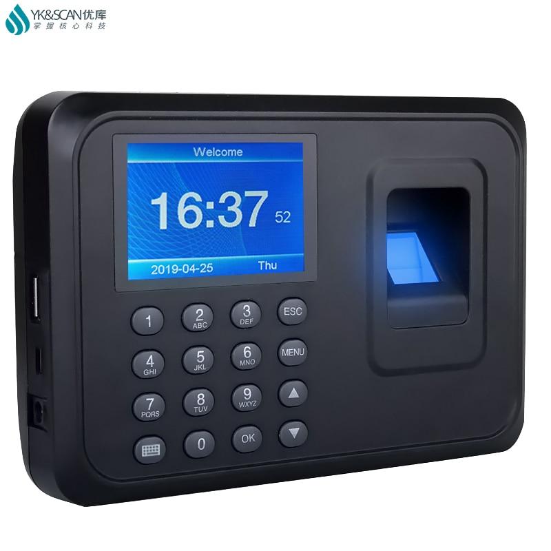 Spanish Portuguese Korean English Fingerprint attendance recorder machine USB Disk pensive excel data format