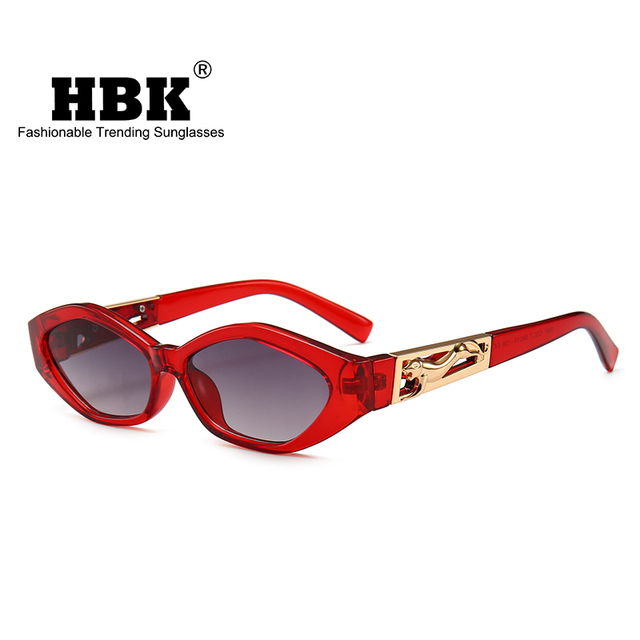 220ede8db5 HBK Cat Eye Sunglasses Women Small Frame Polygon Sun Glasses 2018 New  Popular Brand Designer Men