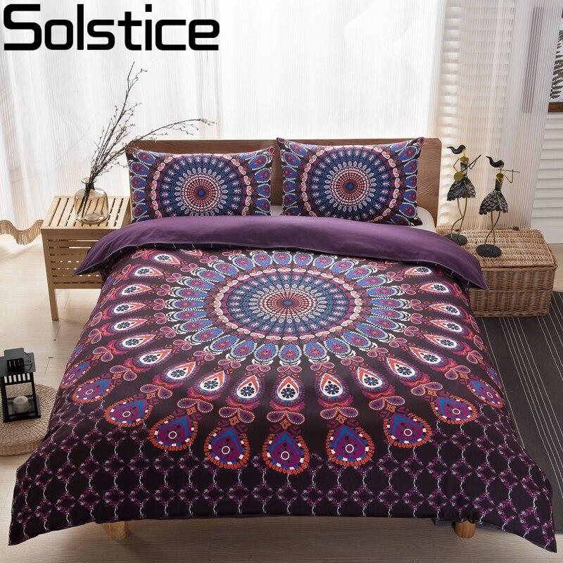 Solstice Posteljina Set Bohemian Mandala Pokrivač Pokrivač s - Tekstil za kućanstvo