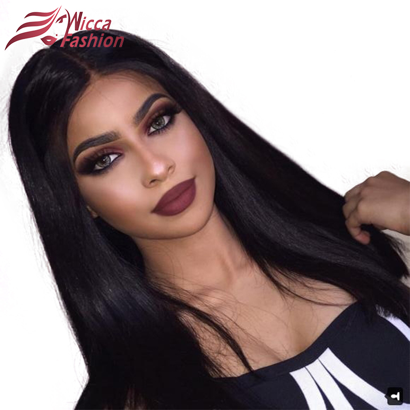 Dream Beauty 150 Density Full Lace Human Hair Wigs With Baby Hair Silky Straight Brazilian Remy Hair Wigs