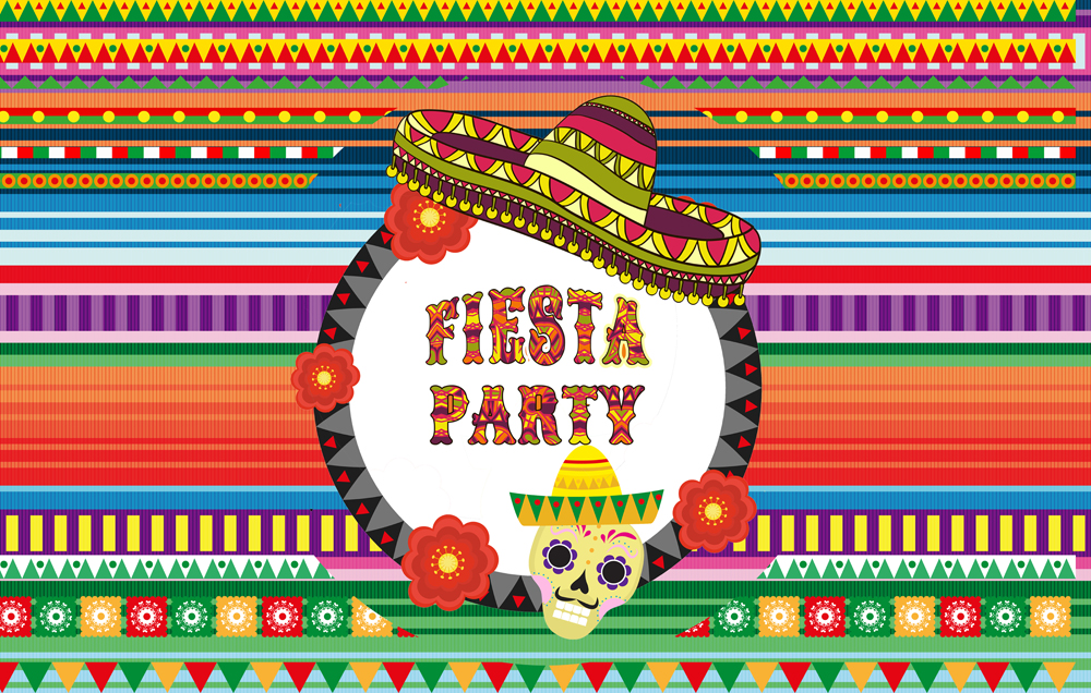 US $7 2 28% OFF|Fiesta Theme Photography Backdrop and Studio Props Great as  Mexican Photo Booth Background Birthday Party Supplies Even D 932-in