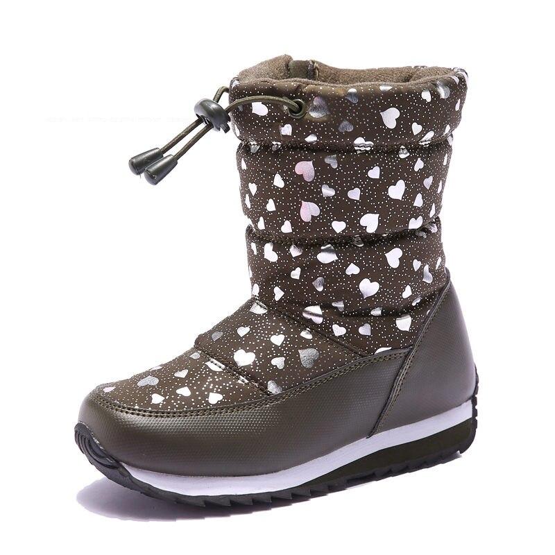 ULKNN Children Winter Boots For Kids Snow Shoes Girls Boys Boots Waterproof Plush Anti-slippery Outdoor School botas 2018