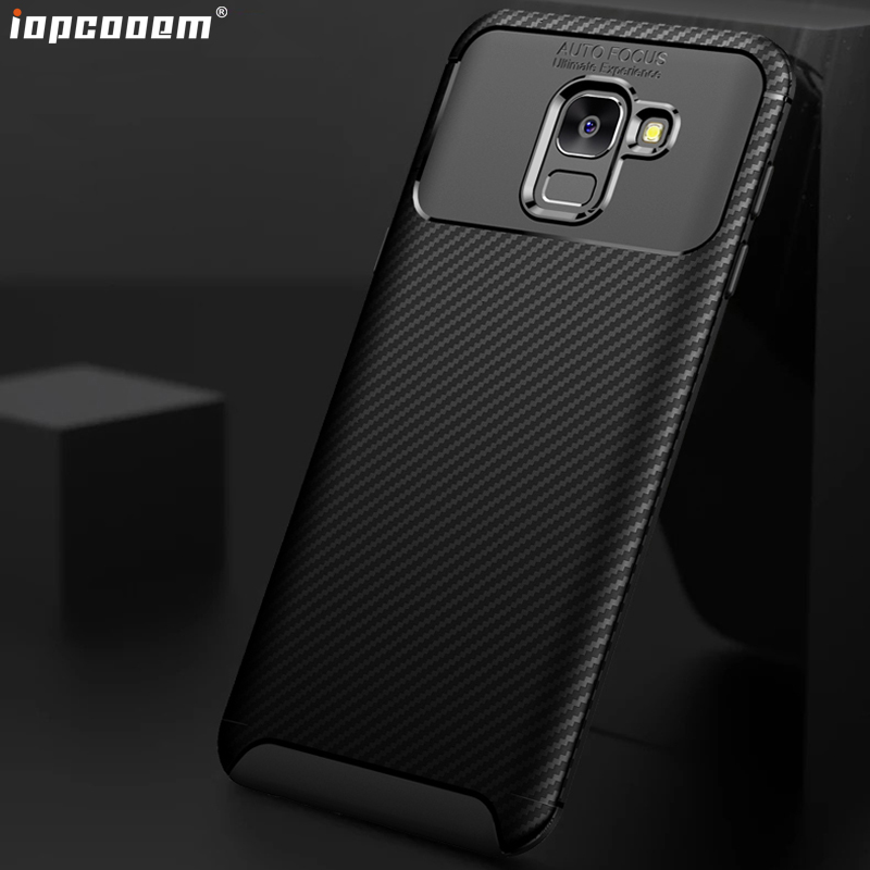 J4 J6 2018 Case For Samsung Galaxy J4 2018 Cases J400F J600F Shell Carbon fiber TPU mobile phone back Cover J6 2018 Coque
