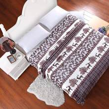 Soft Warm Plaid Coral Fleece Blanket on the Bed/Sofa/Plane/Travel Winter Blanket High Quality Throw Blanket Free Shipping(China)