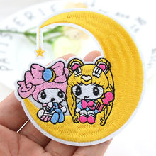 Sailor moon X My melody parches de planchado bordados para ropa DIY, pegatinas de rayas para chicas, insignias de prendas de vestir, apliques al por mayor(China)