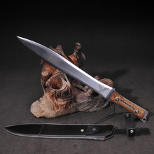 Longquan Sword Manganese Steel Eight Face Car Sword Self-Defense Dagger Hard Cold Weapons Cutting Edge Christmas Decorations