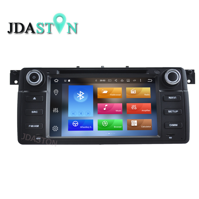 JDASTON 1 DIN 7 Inch Android 8.0 Car DVD Player For BMW E46 M3 Rover 3 Series Multimedia Video GPS Radio 4G+32G Steering Wheel