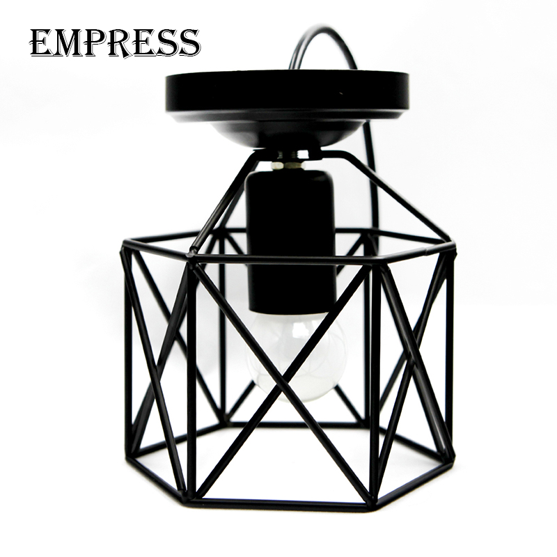 Modern Led Birdcage Retro Loft Ceiling Lamp Shade Vintage Ceiling Lights Home Lighting Luminaire Living Dining Room Light Cage